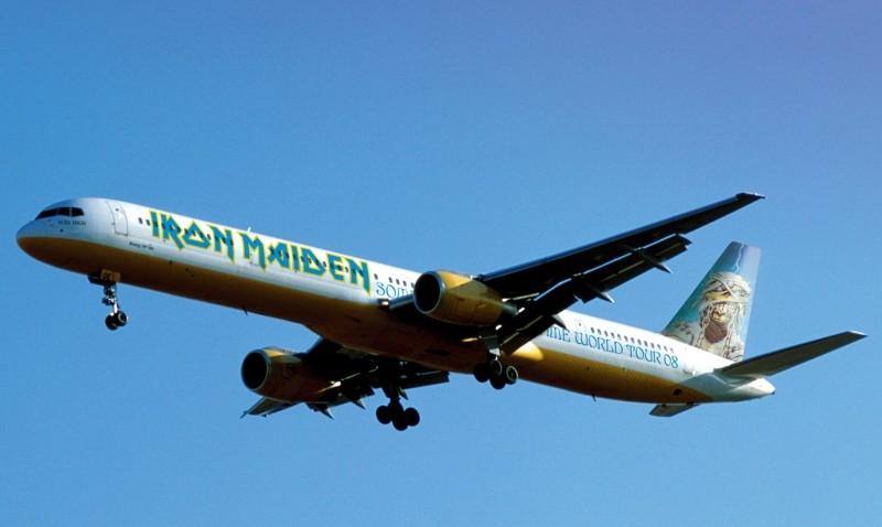 Samolot Iron Maiden fot. Najlepszepiosenki.pl
