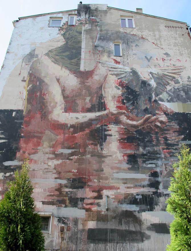Borondo (Hiszpania)/Łódzkie Murale fot. NajlepszePiosenki.pl