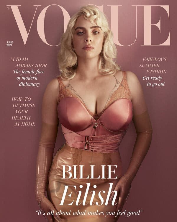 "Billie Eilish ""Vogue"" okładka"