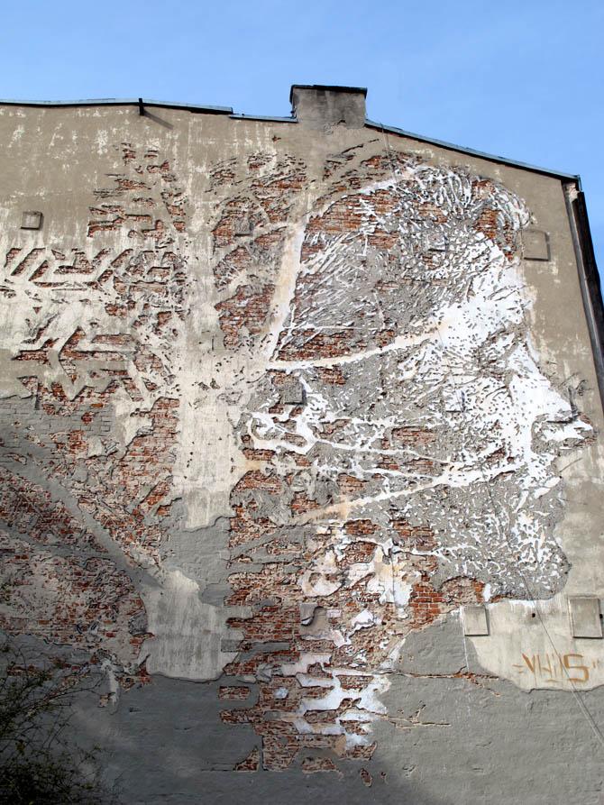 Vhils (Portugalia)/Łódzkie Murale fot. NajlepszePiosenki.pl
